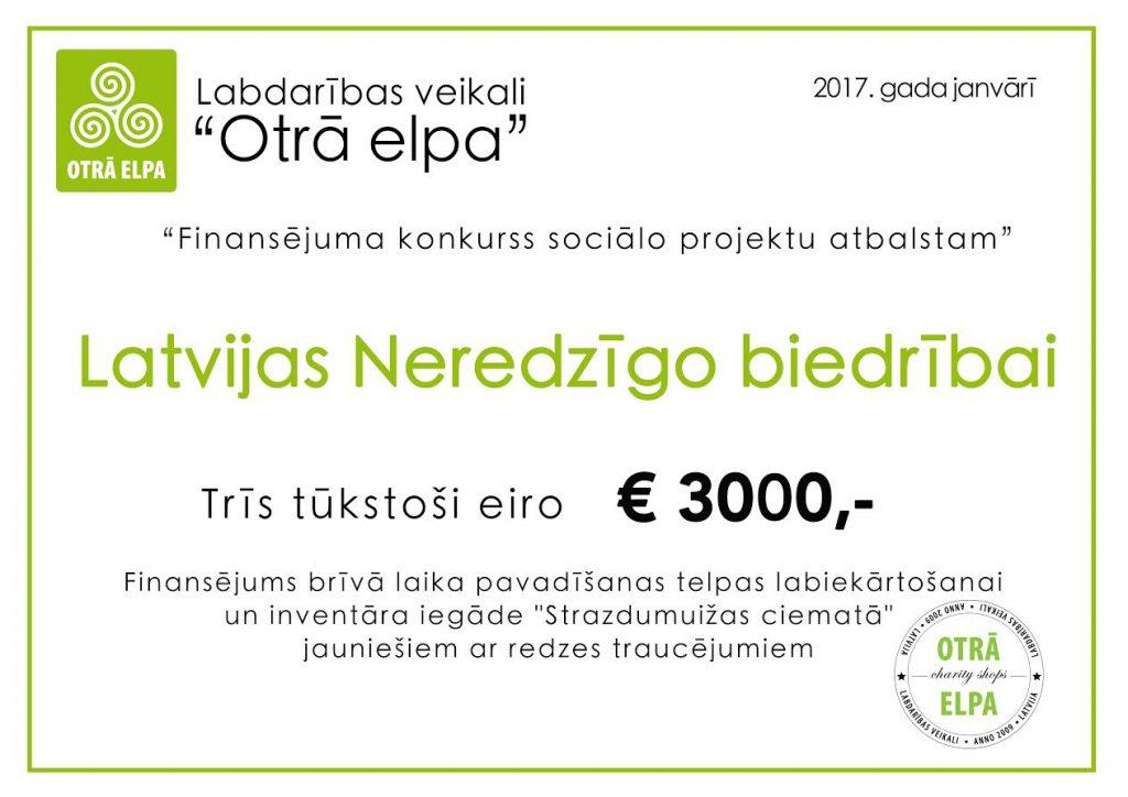 LNB 3000 eur ceks